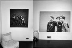 Framefoto Schoonhoven impressie textielframe double 44 huiskamer