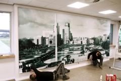 Framefoto Schoonhoven impressie textielframe geluidsabsorptie panelen Hoogheemraadschap Rotterdam 1